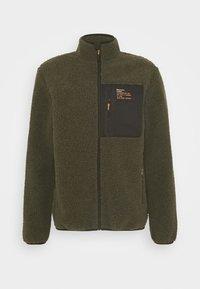 Brave Soul - LITHIUM - Summer jacket - khaki/jet black/orange - 4