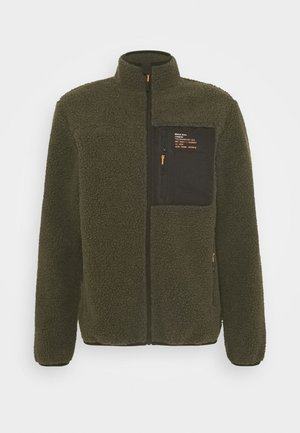 LITHIUM - Summer jacket - khaki/jet black/orange