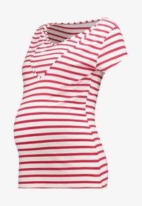 LISE - T-shirt print - rot/weiß