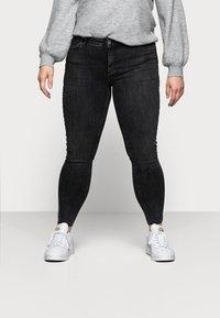 Pieces Curve - PCDELLY - Jeans Skinny Fit - dark grey denim - 0