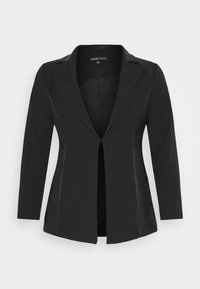 CAPSULE by Simply Be - PU BLAZER - Short coat - black - 4