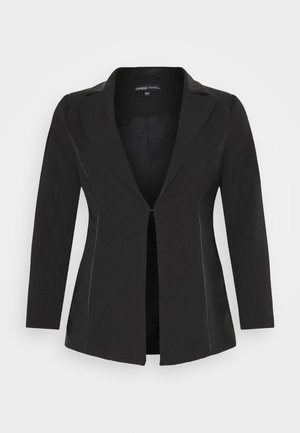 PU BLAZER - Short coat - black