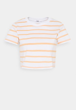 THE BABY TEE - Print T-shirt - white/apricot