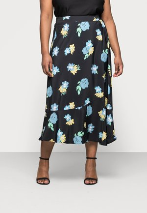 FLOUNCE MIDI SKIRT - Gonna a campana - black