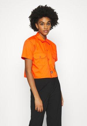 GROVE - Button-down blouse - bright orange