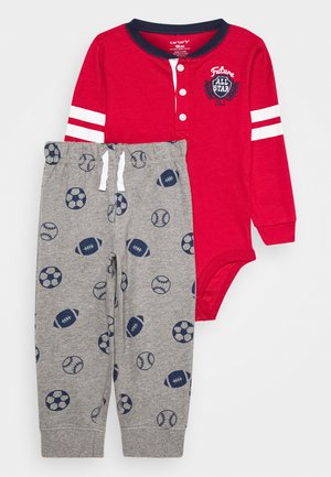 ALL STAR SET - Tracksuit bottoms - burgundy
