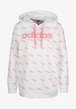 ADIDAS PERFORMANCE CORE FAVORITES HOODIE DAMEN - Hoodie - white/glow pink