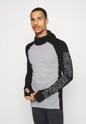 TEMPLE TECH FLEX HOOD - Undershirt - black/grey