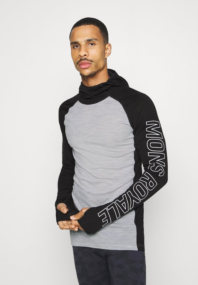 TEMPLE TECH FLEX HOOD - Hemd - black/grey
