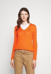 Polo Ralph Lauren - CLASSIC - Strikkegenser - fiesta orange - 0