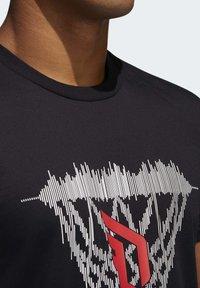 adidas Performance - DAME LOGO T-SHIRT - Print T-shirt - black - 6