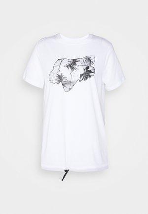PALMS - T-shirt z nadrukiem - white