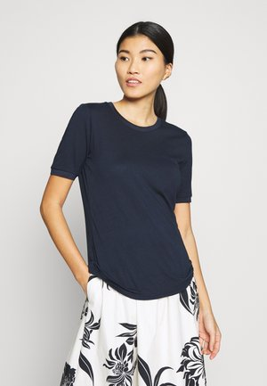 TEE WITH CONTRAST - T-Shirt print - sky captain blue