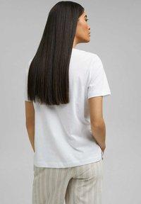 Esprit - Print T-shirt - white - 2