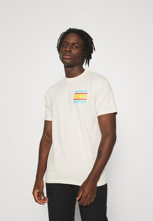 REVOLT VOTE REPEAT - Print T-shirt - cream