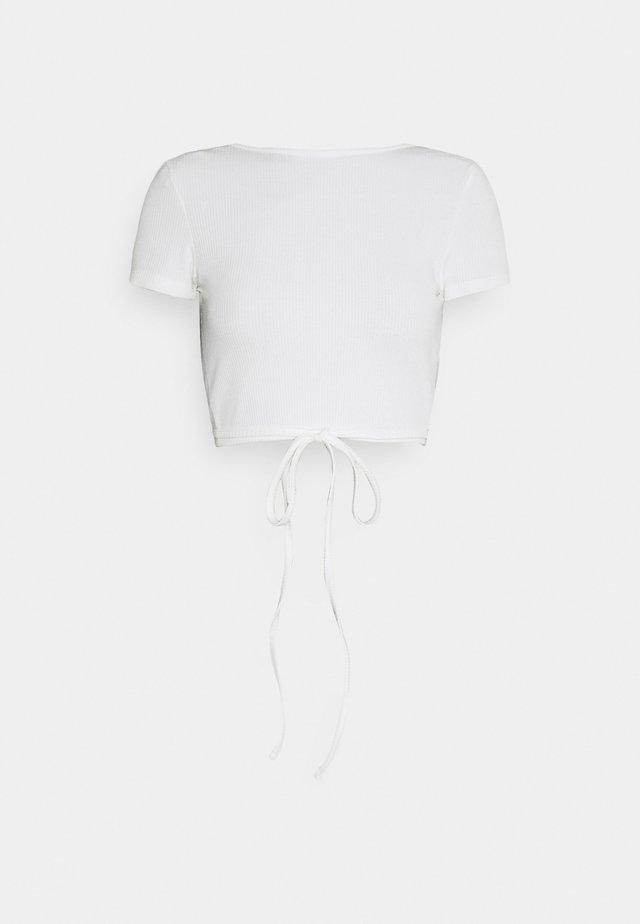 RIVER - Basic T-shirt - cloud dancer weiß