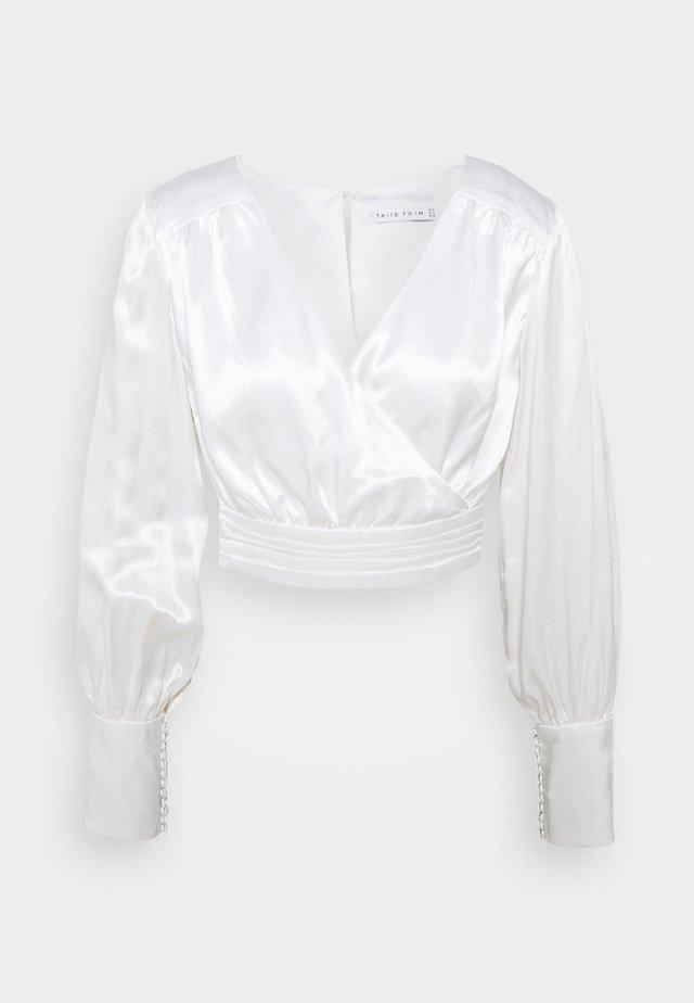 ALLURE DRAPE BLOUSE - Blouse - off white
