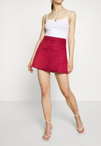 ONLY - ONLLINEA BONDED - A-line skirt - rhubarb - 0