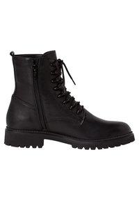 Tamaris - Šněrovací kotníkové boty - black uni - 3
