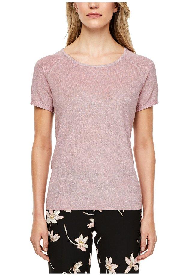 KURZARMPULLOVER MIT METALLIC-EFFEKT - Basic T-shirt - powder pink
