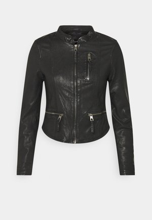 VMCARLI SHORT JACKET - Kožená bunda - black