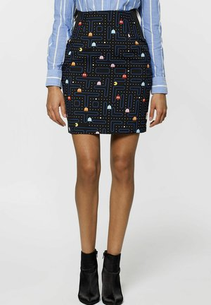 PAC-MAN - Pencil skirt - blue