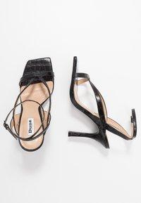 Dune London - MONTEREY  - Sandály na vysokém podpatku - black - 3