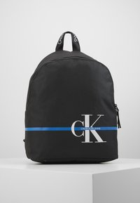 Calvin Klein Jeans - MONOGRAM STRIPE BACKPACK - Batoh - black - 0