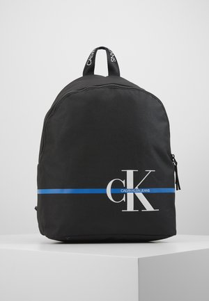 MONOGRAM STRIPE BACKPACK - Rucksack - black