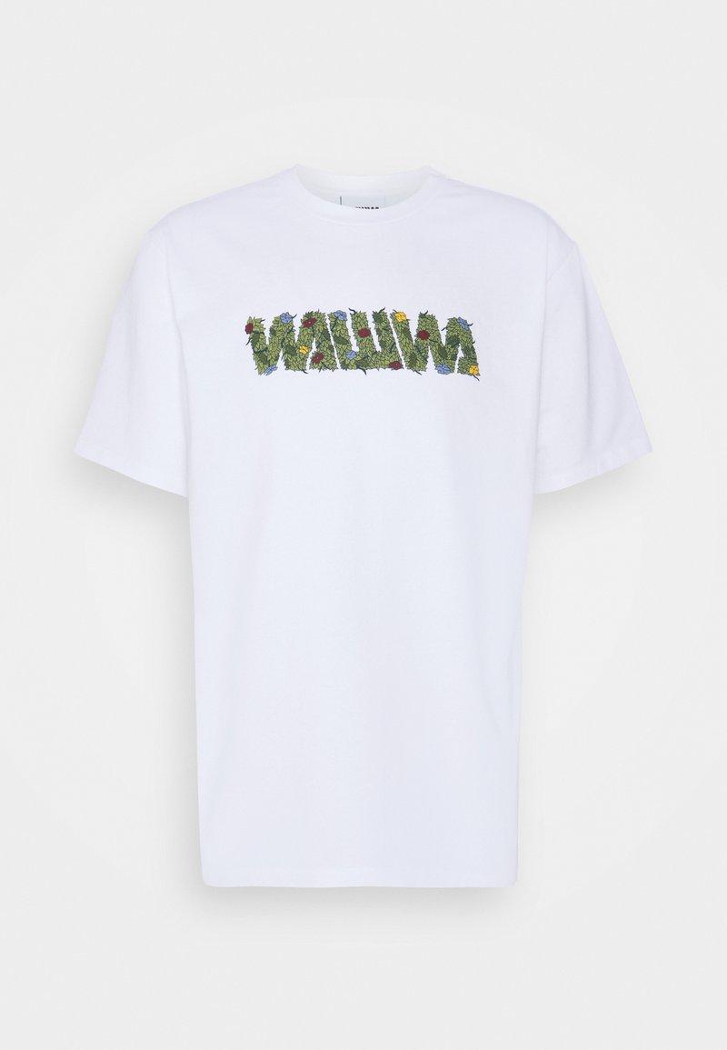 WAWWA - OVERGROWN UNISEX  - Print T-shirt - white