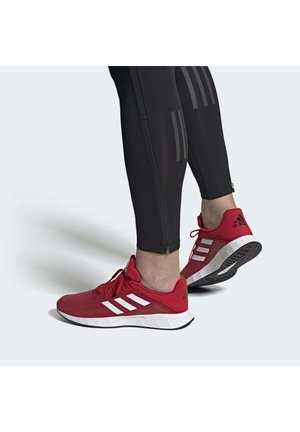 DURAMO - Neutral running shoes - scarle/ftwwht/cblack