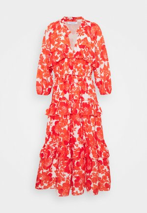 BERENICE PRINT - Denní šaty - coral