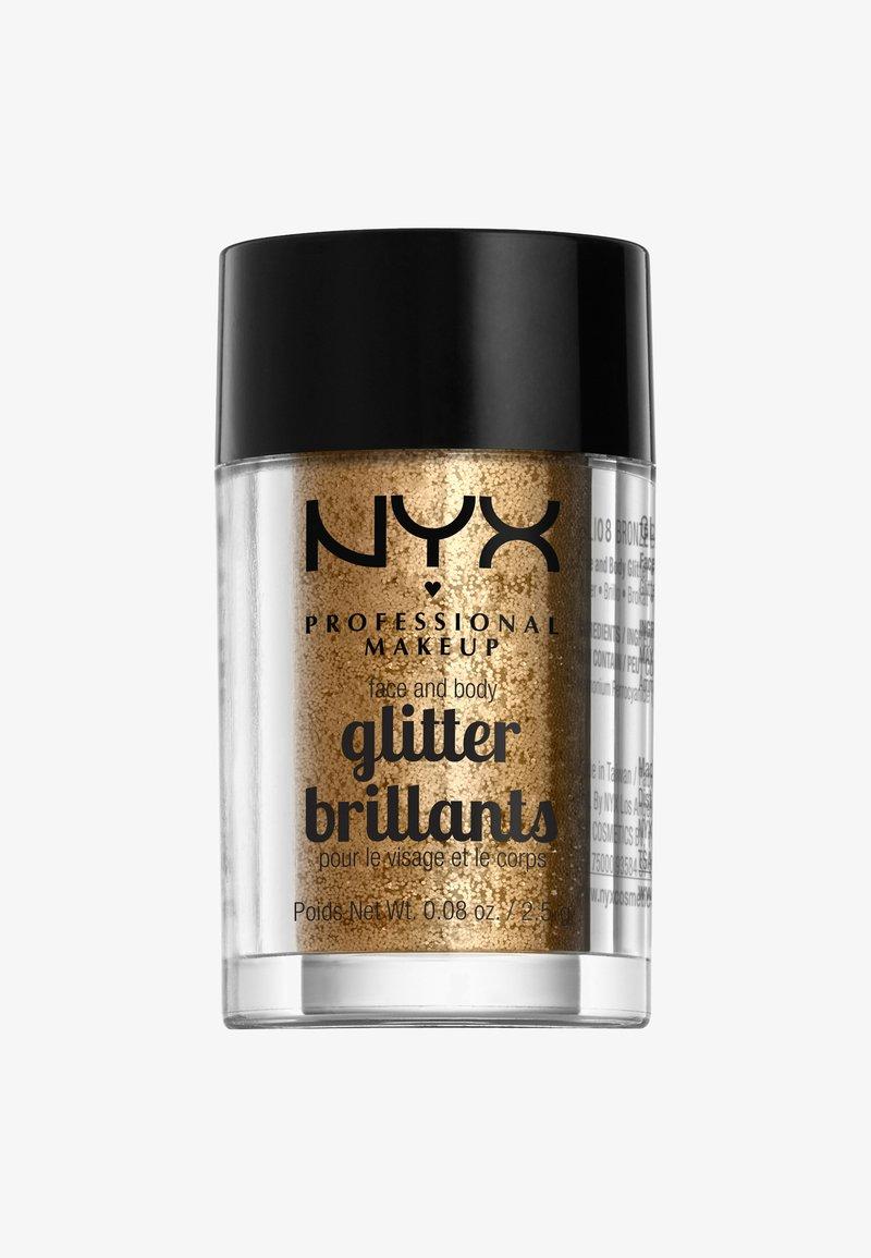 Nyx Professional Makeup - FACE & BODY GLITTER - Glitter & jewels - 8 bronze