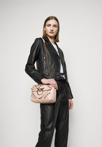 Pinko - SENSIBILE CHIODO - Leather jacket - black - 3