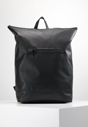 MESSENGER BACKPACK COATED - Rucksack - black