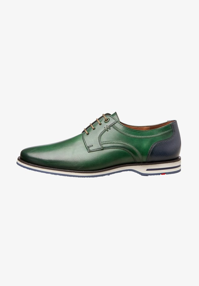 DRAGAN - Chaussures à lacets - dark green/ocean