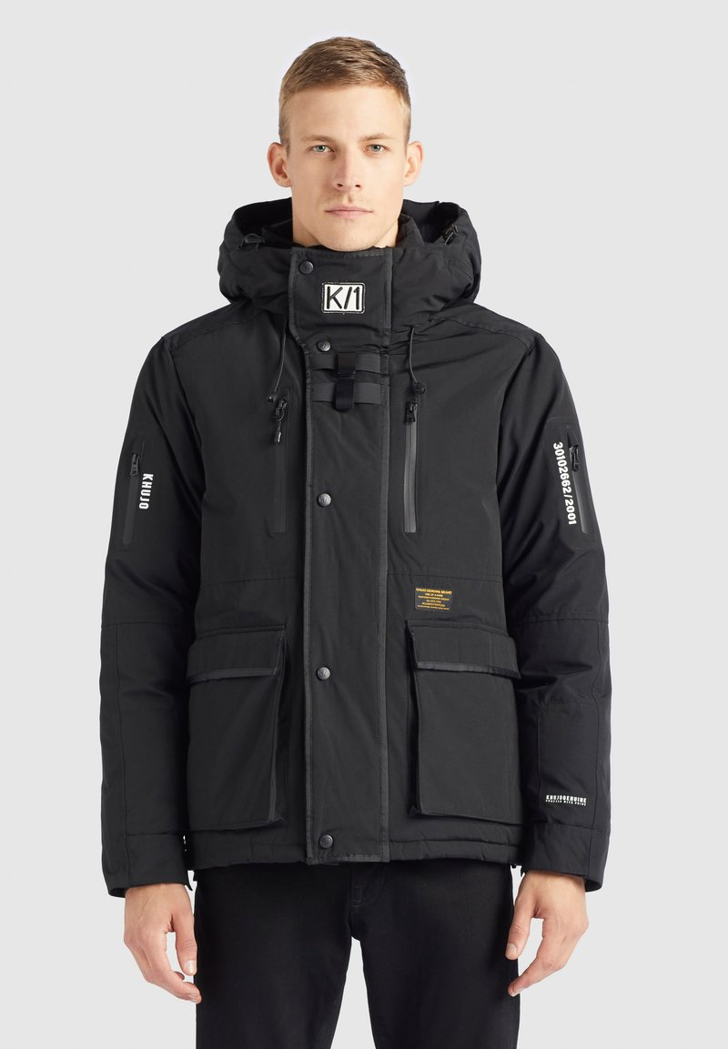 khujo - NANDU - Winter jacket - schwarz-schwarz kombo