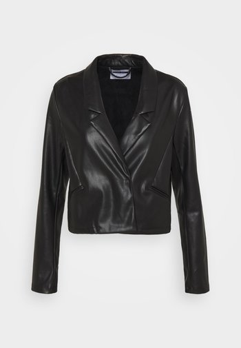 NMHILL  - Faux leather jacket - black