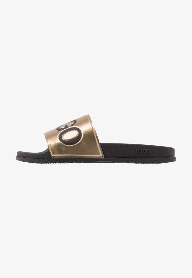 MATCH SLID - Ciabattine - black/gold