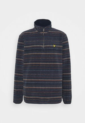 FAIRISLE HALF ZIP - Fleecetröja - dark navy