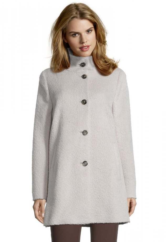 Winter coat - middle cream melange