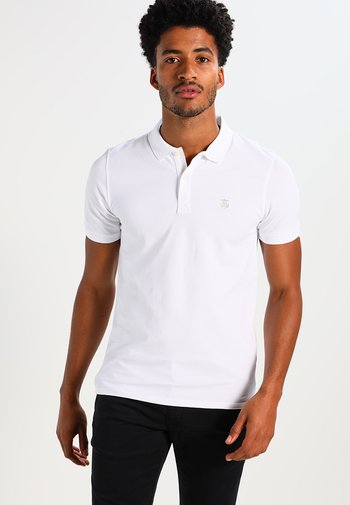 SLHARO EMBROIDERY - Polo shirt - bright white