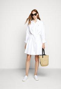 Polo Ralph Lauren - LONG SLEEVE CASUAL DRESS - Skjortekjole - white - 1