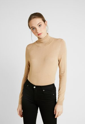 VIBOLONIA KNIT ROLLNECK TOP-NOO - Jumper - beige