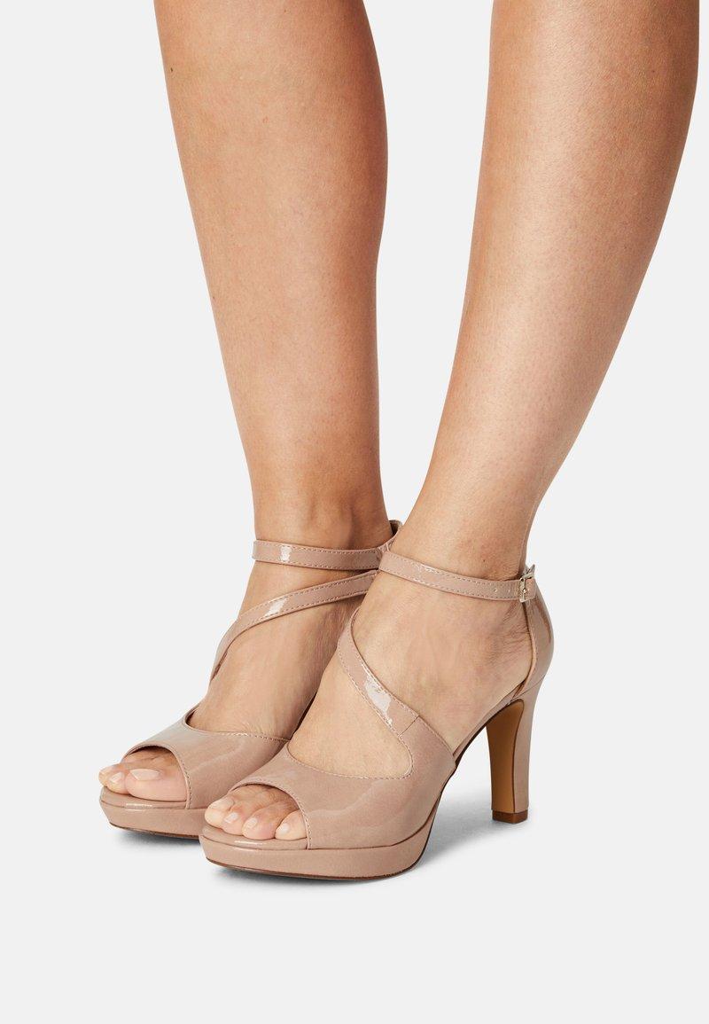 s.Oliver - Platform sandals - nude