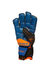 Reusch - ATTRAKT G3 FUSION ORTHO-TEC GOALIATOR - Goalkeeping gloves - black / shocking orange / deep blue - 2