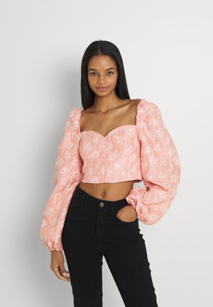 PUFFY SLEEVE HEART  - Camicetta - pink