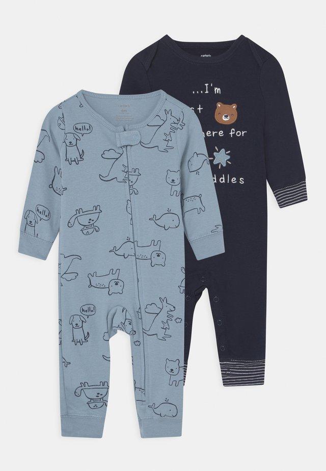 2 PACK - Pyjama - dark blue/blue