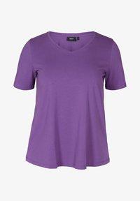 Zizzi - T-shirt basic - purple - 3