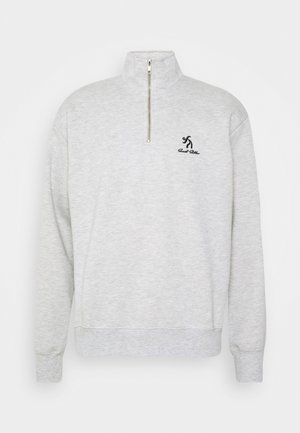 SWEET HALF ZIPPED UNISEX - Collegepaita - grey melange